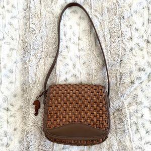 Vintage Woven Rattan Raffia Mini Shoulder Bag